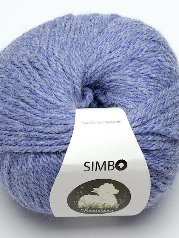 Ovillo de lana Simbo 50% Superfine Alpaca y 50% lana de oveja, de Lanasalpaca, color cielo