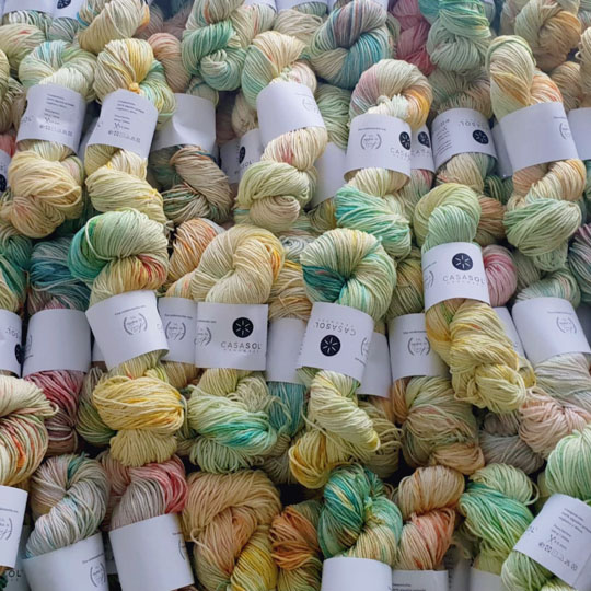 Ovillo de algodón peinado GROSOR L organic detox de Casasol