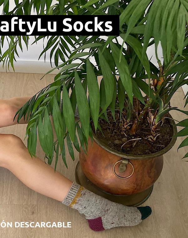 Patrón descargable gratuito para Calcetines CraftyLu Socks